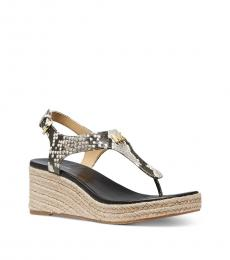 Michael Kors Snake Print Laney Signature Wedges