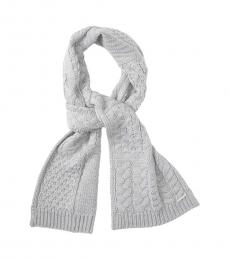 Michael Kors Pearl Heather Patchwork Cable Scarf