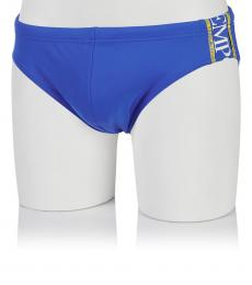 Emporio Armani Blue Side Logo Swim Slip