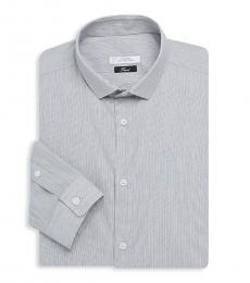Versace Collection Grey Striped Dress Shirt