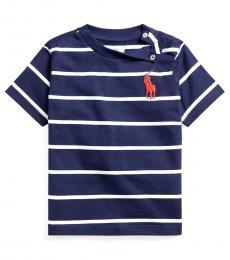 Ralph Lauren Baby Boys Newport Navy Jersey Crewneck T-Shirt