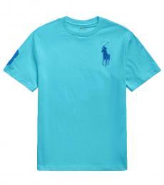 Ralph Lauren Boys Lindsay Blue Big Pony T-shirt