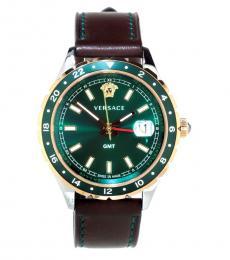 Versace Brown Green Dial Watch
