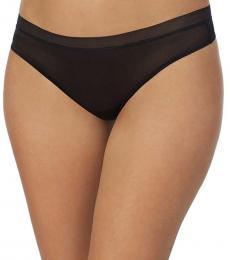 DKNY Black Glossy Thong Underwear