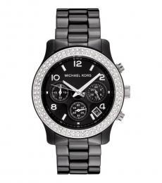 Michael Kors BlackCeramic Crystal Watch