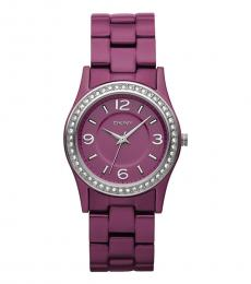 DKNY Pink Crystal Watch