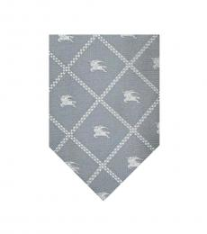 Burberry Grey Plaids Logo Tie
