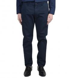 Dolce & Gabbana Dark Blue Cotton Pants