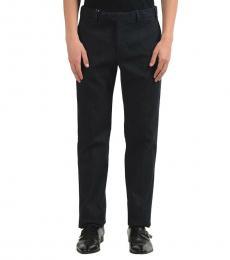 Grey Denim Dress Pants
