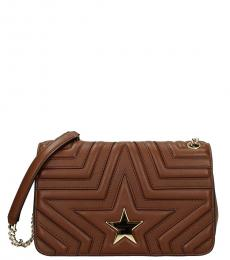 Stella McCartney Brown Star Medium Shoulder Bag
