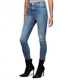True Religion Crystal Icing High Rise Crystal Jean