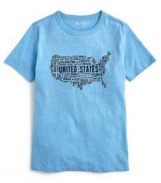 J.Crew Little Boys Blue USA Map T-Shirt