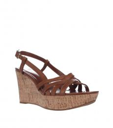 Ralph Lauren Polo Tan Quaylin Wedges