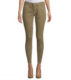 True Religion Military Green Classic Ankle Jeans