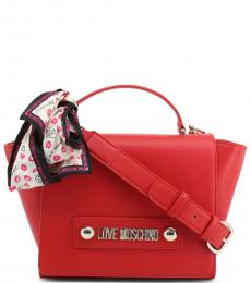 Love Moschino Red Scarf Small Satchel