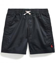 Ralph Lauren Little Boys Black Twill Drawstring Shorts