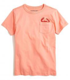 J.Crew Little Boys Pale Guava Graphic T-Shirt