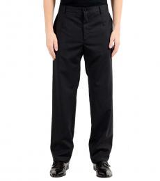 Charcoal Flat Front Dress Pants
