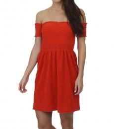 Juicy Couture City Rouge Off-The-Shoulder Dress