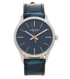 Blue Striking Print Watch