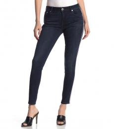 True Religion Honey Drip Embellished Mid Rise Skinny Jeans