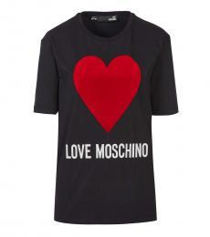 Love Moschino Black Heart Logo Dress