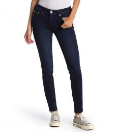 Navy Blue Mid Rise Skinny Jeans
