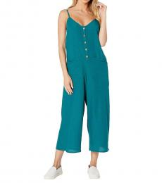 Billabong Teal V-Neck Jumpsuit