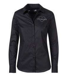 Love Moschino Black Casual Logo Shirt