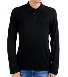 Black Polo Silk Pullover Sweater