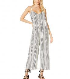 BlackWhite Striped Jumpsuit