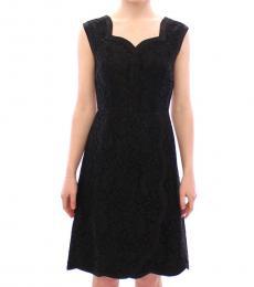 Black Floral Sicily Dress