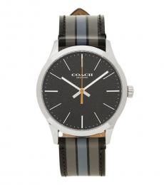 Coach Grey Blue Stylish Watch