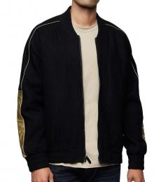 True Religion Black Varsity Jacket