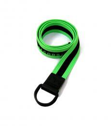 Neon Green Stripe Logo Belt