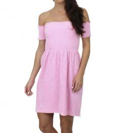 Juicy Couture Pink Off-The-Shoulder Dress