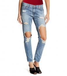 True Religion Light Blue Cameron Boyfriend Jeans