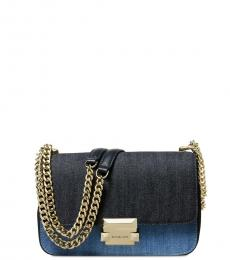 Michael Kors Denim Blue Sloan Chain Small Shoulder Bag