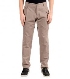 Beige Pleated Dress Pants