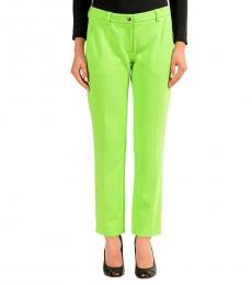 Green Stretch Casual Pants