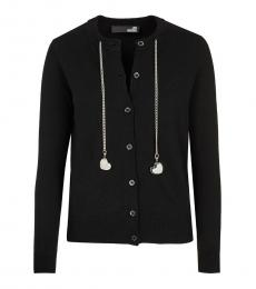 Black Love Chain Logo Cardigan
