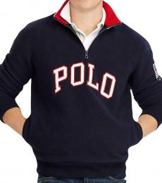 Ralph Lauren Navy Blue Zip Sweatshirt