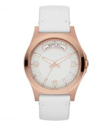 Marc Jacobs White Dave Logo Dial Watch