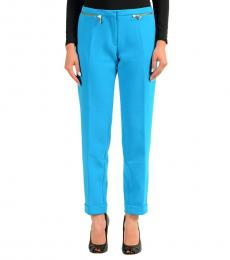Blue Stretch Casual Pants