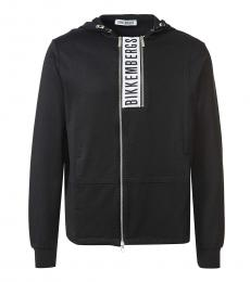 Bikkembergs Black Graphic Logo Zipper Jacket
