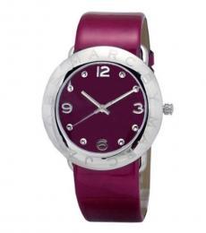 Marc Jacobs Dark Pink Amy Quartz Watch