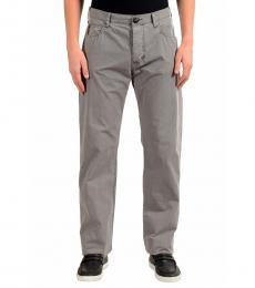 Armani Jeans Grey Straight Leg Light Jeans