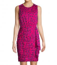 Dragon Berry Floral Ruched Dress