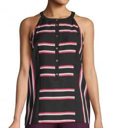 Black Striped Sleeveless Top