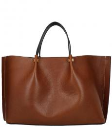 Valentino Garavani Brown Solid Large Tote